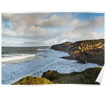 Cove Bay, Hopeman, December High Tide Poster
