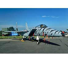 F-15C 84-021 in tiger stripes Photographic Print