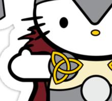 Meow Meow II Kitty Thor Sticker