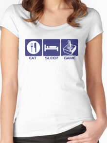 Eat Sleep Game Retro Women's Fitted Scoop T-Shirt