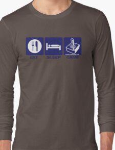 Eat Sleep Game Retro Long Sleeve T-Shirt