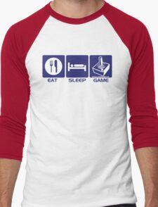 Eat Sleep Game Retro Men's Baseball ¾ T-Shirt