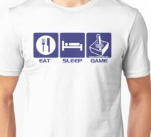 Eat Sleep Game Retro Unisex T-Shirt