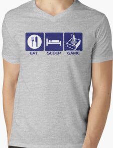 Eat Sleep Game Retro Mens V-Neck T-Shirt