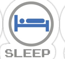 Eat Sleep Game Sticker