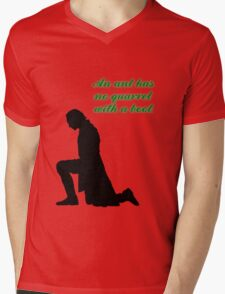 An Ant Has No Quarrel With A Boot Mens V-Neck T-Shirt