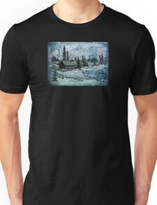 Light beyond the trees Unisex T-Shirt