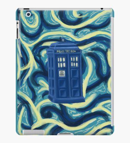 Tardis + Background iPad Case/Skin