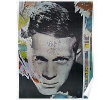 Steve McQueen Graffiti Wall - NYC Poster
