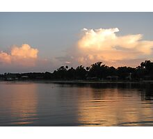 Sunset on Lake George, FL Photographic Print