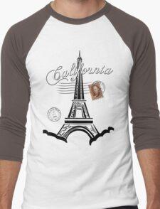 California, France Men's Baseball ¾ T-Shirt