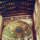Apse dome and ceiling of nave mosaic San Appolinare in Classe Italy 198404150033 by Fred Mitchell