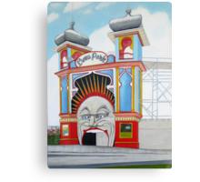 Luna Park blank card Canvas Print