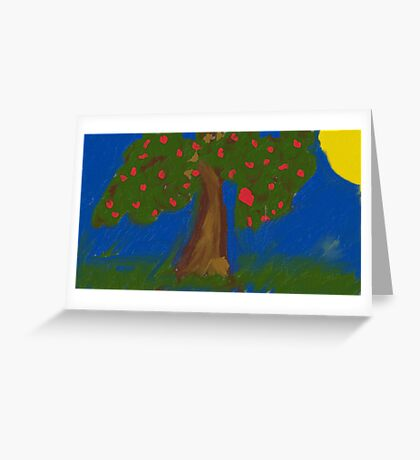 countryside tree Greeting Card