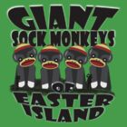 Giant Sock Monkeys of Easter Island by dennis william gaylor