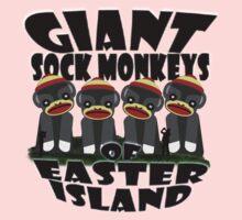 Giant Sock Monkeys of Easter Island Kids Tee