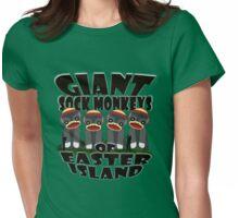 Giant Sock Monkeys of Easter Island Womens Fitted T-Shirt