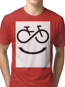 Forever Smiling while Riding Tri-blend T-Shirt