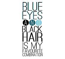 Magnus Bane: Blue Eyes and Black Hair 2 Photographic Print