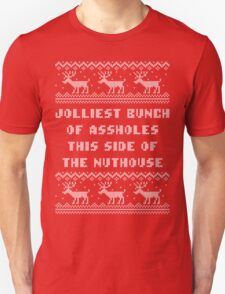 Jolliest Bunch This Side of Nuthouse Holiday Shirt Unisex T-Shirt