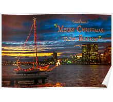 Merry Christmas from Boston Poster