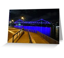 The Story Bridge sparkling Greeting Card