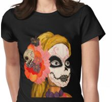 Sugar Skull Barbie Womens Fitted T-Shirt