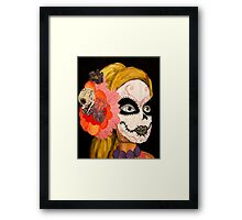 Sugar Skull Barbie Framed Print