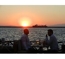 Sunset over Izmir Bay in Turkey Photographic Print