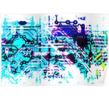 circuit board blue Poster