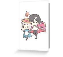Howls Moving Castle - Studio Ghibli Greeting Card