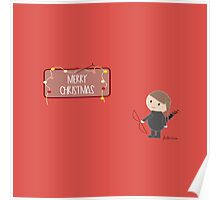Merry Christmas by Katniss  Poster