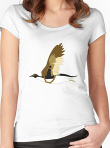 Penguins Can't Fly Women's Fitted Scoop T-Shirt