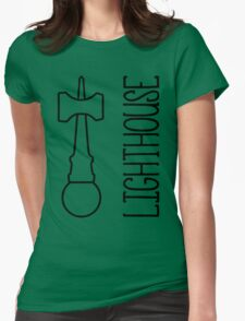 Lighthouse, black Womens Fitted T-Shirt