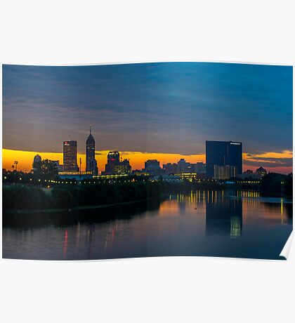 Indianapolis Skyline 1 Poster