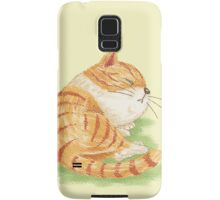 Tabby sleeping Samsung Galaxy Case/Skin