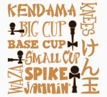 Kendama Block, gold by gotmoxy