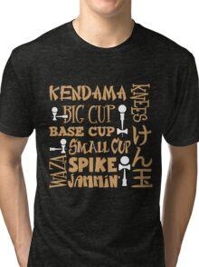 Kendama Word Block, gold2 Tri-blend T-Shirt