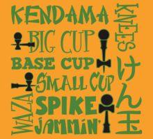 Kendama Word Block, green by gotmoxy