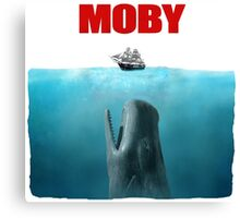 Jaws poster Moby Canvas Print