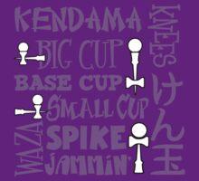 Kendama Word Block, lavender by gotmoxy
