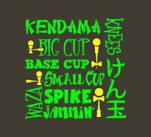 Kendama Word Block, neon green Unisex T-Shirt