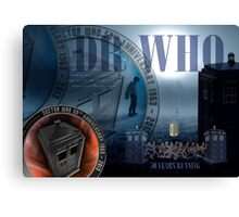 DR WHO - 50th Anniversary Canvas Print