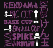 Kendama Word Block, pink2 by gotmoxy