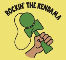 Rockin the Kendama, neon green by gotmoxy