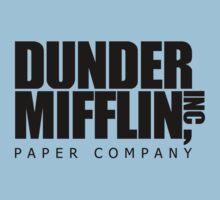 Dunder Mifflin Logo- B/W One Piece - Short Sleeve
