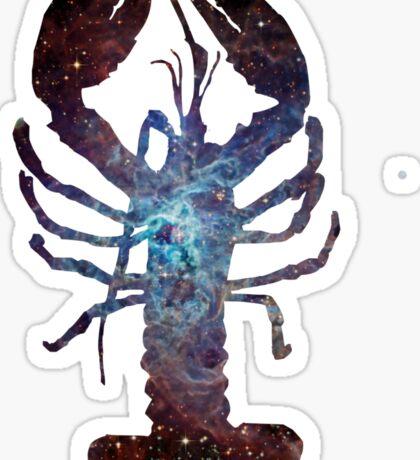 Galaxy Lobster Sticker