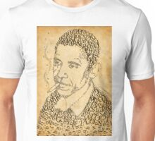 Barack Obama in the font of times Unisex T-Shirt