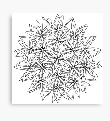 A flower bundle to color Canvas Print