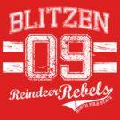 Blitzen Reindeer Rebel by Jesse Cain
